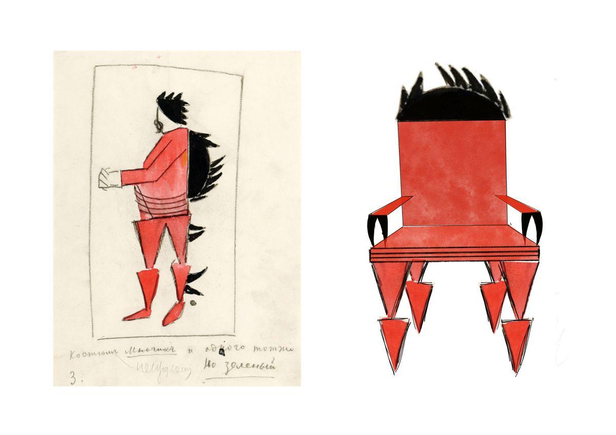 Казимир Малевич дизайн стульев
